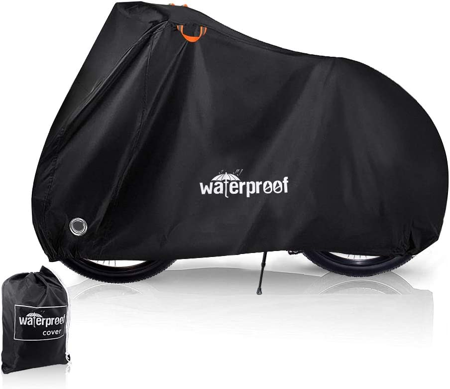 Eyein Bike Cover Waterproof Dust Sun UV Rain Snow Wind Rust Resistant Durable29 Inch Bicycle Outdoor Cover 210T Oxford Fabric with Lock Hole Protector for Mountain Road Electric Bike Hybrid Storage
