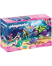 PLAYMOBIL 70099 Pearl Collectors with Manta Ray,Colourful