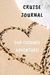 "6""x 9"" paperback style, blank lined journal. Great size to put in your beach bag, carry on or backpack. This is a wonderful way to journal your fun time on your cruise to Cozumel Mexico Imagine laying on the deck or on the beach or even a loc..."