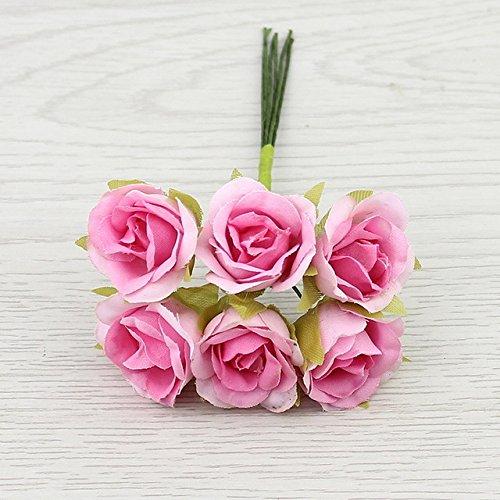 Artificial Rose flower Bouquet For Wedding Decoration Scrapbooking Decorative Wreath DIY Craft (Japan China Silver Wreath)
