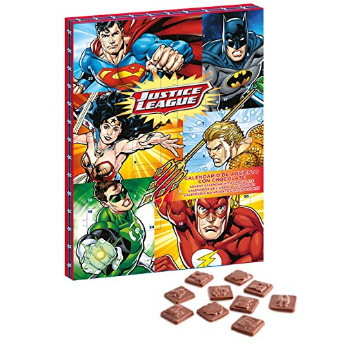 DC Comics Justice League Milk Chocolate Advent Calendar 2018 (ORDER BEFORE NOVEMBER 27TH FOR EXPRESS DELIVERY)
