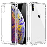 MoKo Compatible with iPhone Xs Max Case, Crystal Clear Reinforced Corners TPU Bumper + Rugged Hybrid Transparent Anti-Scratch Panel Cover Fit with Apple iPhone Xs Max 6.5 inch 2018 – Crystal Clear
