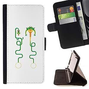 """For LG G4c Curve H522Y (G4 MINI), NOT FOR LG G4,S-type Dragón del arte divertido del personaje"""" - Dibujo PU billetera de cuero Funda Case Caso de la piel de la bolsa protectora"""