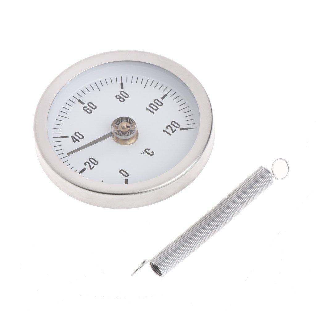 Jenor Rohr Thermometer Mit Clip Und Messgerät Temperaturanzeige Bimetall Temperaturanzeige Und Feder 63 Mm 120 C Gewerbe Industrie Wissenschaft
