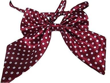 Damen mädchen fashion satin schleife krawatte Krawatte 15+ farben party kostüm: leopard, gepunktet, streifen by Fat-catz-copy-catz 12.5cm x 11cm ladies neck tie