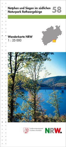 Wanderkarten Nordrhein-Westfalen, Bl.58 : Netphen und Siegen im südlichen NP Rothaargebirge