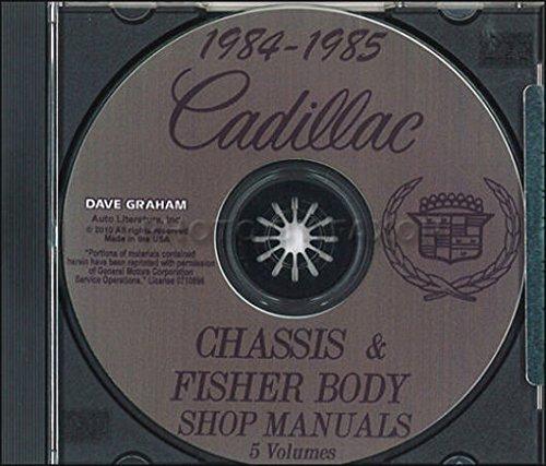 FULLY ILLUSTRATED 1984 1985 CADILLAC REPAIR SHOP & SERVICE MANUAL CD Fleetwood Brougham, DeVille Coupe, Sedan, Limousine, Cabriolet, 75, Eldorado Coupe, Biarritz Convertible, Seville, Cimarron, 60 Special