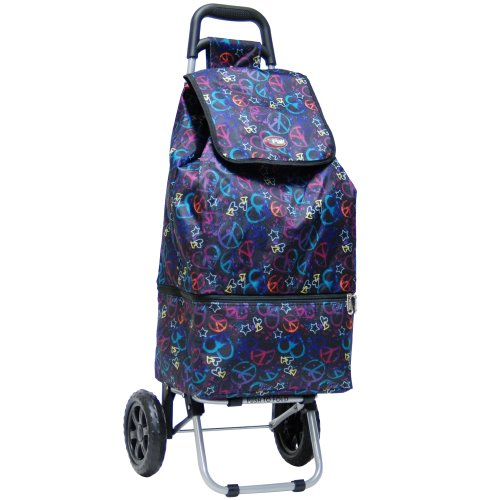 calpak-canal-black-peace-25-inch-rolling-shopping-tote
