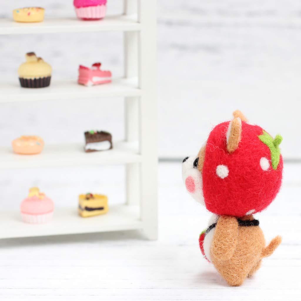 SM SunniMix 6 Sets DIY Wool Felting Craft Needle Felt Animal Kit Set Cartoon Shiba Inu
