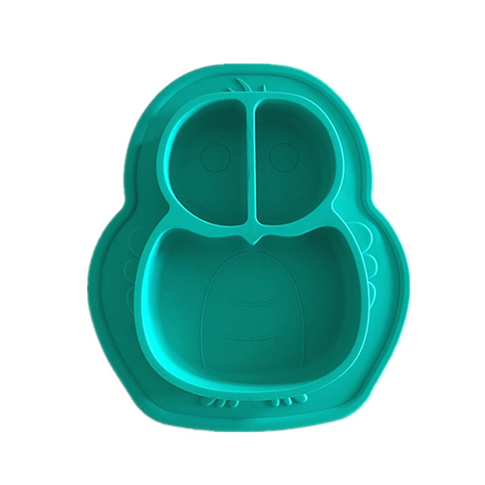 LLZJ Babies Silicone Suction Bowl Suction Stay Put Placemat Antidérapant Anti-Fall Toddler Training Feeding Dishes Tableware Silicone Children's Cutlery 2 Pieces