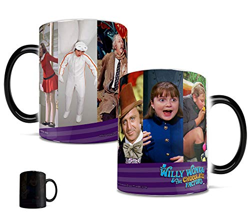 Morphing Mugs Willy Wonka and the Chocolate Factory Characters Heat Reveal Ceramic Coffee Mug - 11 Ounces