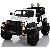 Electric 2 Seater for Kids - Ride On Car - 12V Battery Powered Ride On Cars - With Remote Control Car - Battery Operated Ride On Toy For Kids – Off-road Truck MP3 Radio White Colored