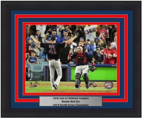 Red Sox 2018 World Series Champions Chris Sale & Christian Vazquez Final Out 8