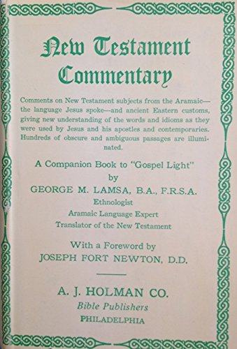 Download New Testament Commentary From The Aramaic And The