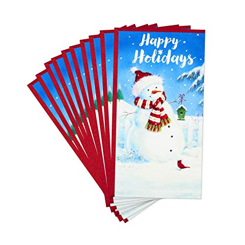 Hallmark Pack of Christmas Money or Gift Card Holders, Festive Snowman (10 Cards with Envelopes) (Cards Festive Christmas)