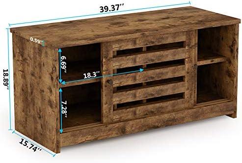 Tribesigns Banco organizador de zapatos con estantes y puerta ...
