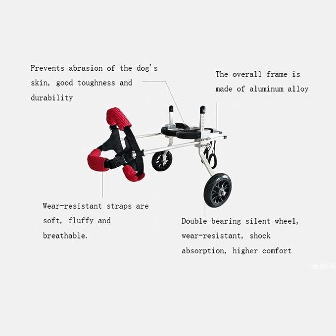 Scooter Para Perros Discapacitados Silla De Ruedas Grande Soporte Auxiliar Para Perros Discapacitados Aleación De Aluminio Instalación Ultraligera ...