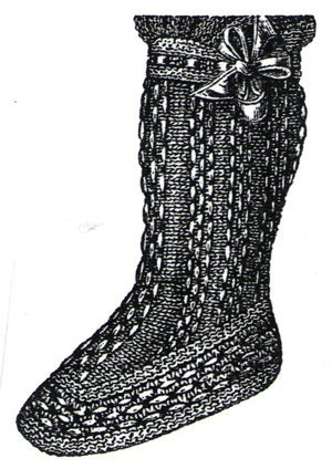 Elizabethan Era Costume (1894 White Baby's Knitted Bootee Pattern)