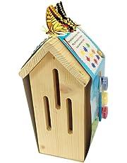 casa delle farfalle in legno per hotel da giardino con insetti naturali con tre pigmenti colorati