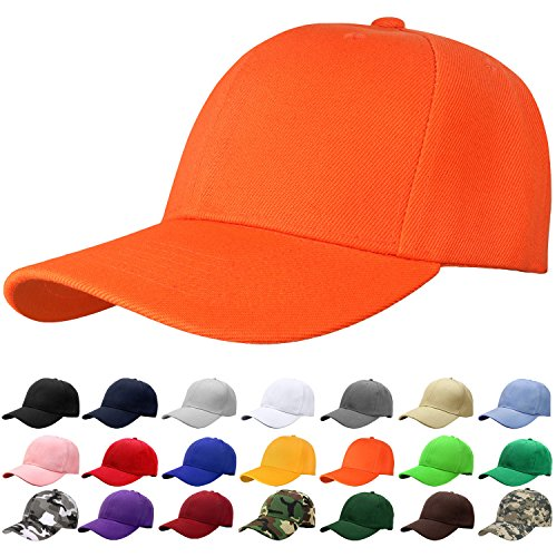Falari Baseball Cap Adjustable Size Solid Color G001-14-Orange -