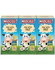 MARIGOLD UHT Milk with Malt, 200 ml (Pack of 6)