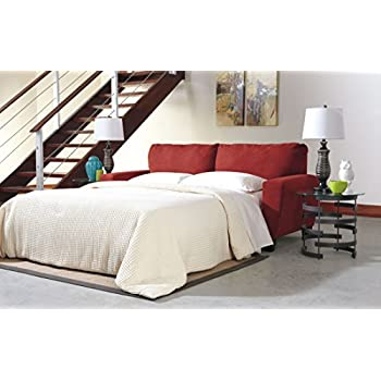 Ashley Furniture Signature Design - Sagen Sleeper Sofa - Contemporary Style Couch - Queen Size - Sienna Red