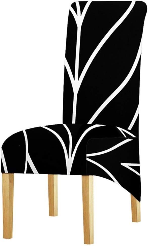 YUELANG XL Gr/ö/ße Lange R/ückenlehne Stuhlabdeckung Europa Stil Gro/ße Gr/ö/ße Sitz Stuhlhussen Restaurant Hotel Party Bankett Schonbez/üge Dekoration Color : 0855, Specification : XL Size