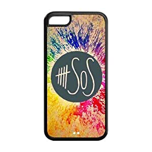 5sos Hard Rubber Cell Cover Case for iPhone 5C,5C Phone Cases by mcsharks