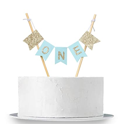Amazon INNORU Handmade ONE Birthday Cake Topper