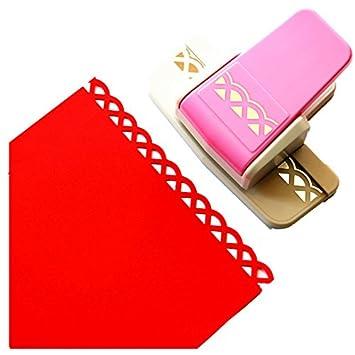 Cady Perforadora para artesanías; moderna y elegante perforadora para gofrar bordes de papel, ideal para álbumes de recortes. 6: Amazon.es: Hogar