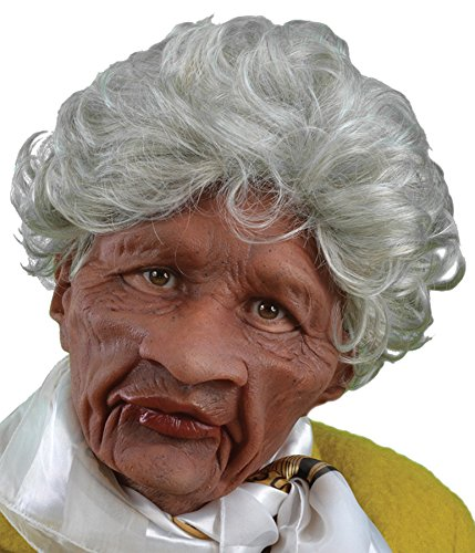 UHC Women's Old Auntie Supersoft Latex Mask Party Halloween Costume Accessory