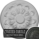 Ekena Millwork CM08MUPTC 7 7/8'' Od X 1/4'' P Milling (fits Canopies up to 2''), Hand-Painted Ceiling Medallion, Painted Turtle Crackle