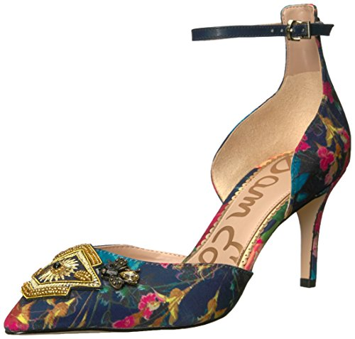 Sam Edelman Womens Tabby Pump Blu Scuro Stampa Multi Bouquet