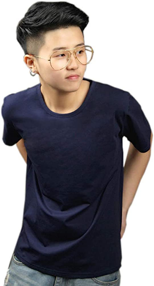 MISWSU Tomboy Solid Chest Binders T-Shirt Cotton Outwear Lesbian Cosplay Tshirt Clothes