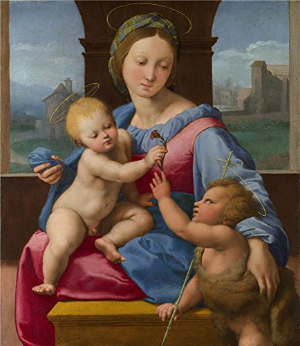The High Quality Polyster Canvas Of Oil Painting 'Raphael The Garvagh Madonna ' ,size: 24 X 28 Inch / 61 X 70 Cm ,this Replica Art DecorativeCanvas Prints Is Fit For Bar Decor And Home Decoration And Gifts