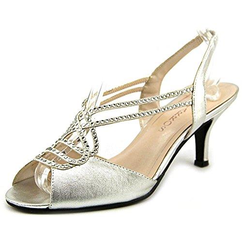 Caparros Women's Philomena Slingback Dress Sandals, Silver Metallic, Size 7.0