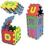 Excellent.advanced® 36pcs Mini Puzzle Blocks Kid Educational Toy Alphabet Letters Numeral Foam Mat 5x5