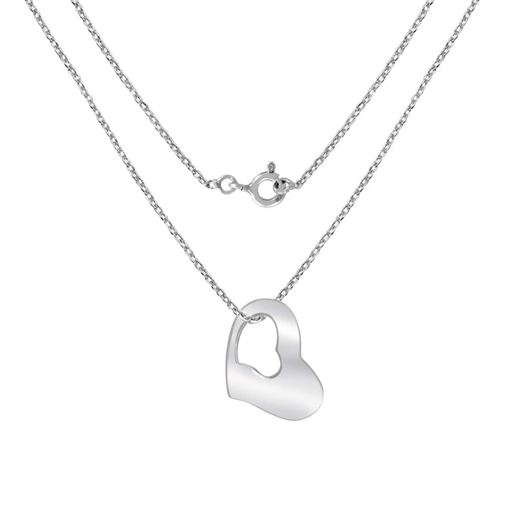 viStar Stainless Steel Heart Pendant Necklace