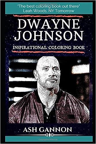 Dwayne Johnson Inspirational Coloring Book Dwayne