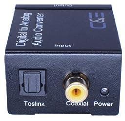 Digital Optical Coax to Analog R/L audio converter