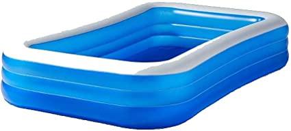 SUN SQUAD 10ft Inflatable Rectangular Family Inflatable Above Ground Pool 10/'x22