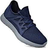 Simasoo Women Sneakers Casual Breathable Mesh Sports Walking Running Shoes Blue/Grey Size 12