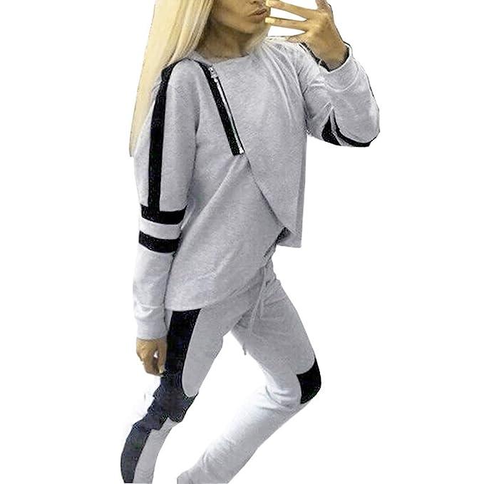Damen Trainingsanzug Hausanzug Hoodie Sweatshirt Hose Jogging Sets Sportanzug