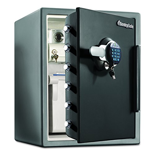 SentrySafe SFW205EVB Electronic Water-Resistant Fire-Safe, 2 ft3, 18 2/3 x 19 3/8 x 23 7/8, Black