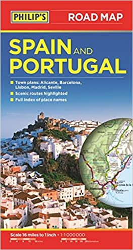 Map Of The Whole World With Names.Philip S Spain And Portugal Road Map Amazon Co Uk Philip S Maps