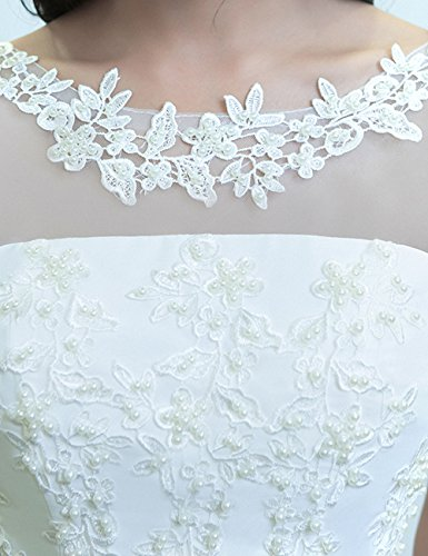 Luckyshe Brautjungfernkleider Chiffon Abendkleider Lang Violett Damen Hochzeit Spitze Mit Für Elegant