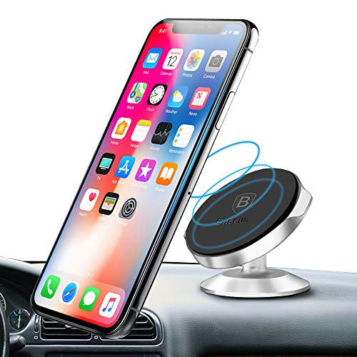 Magnetic Phone Car Mount Baseus Universal Magnetic Car Phone Holder Compact for iPhone X / 8 / 8 Plus 7 / 7 Plus / 6s / 6 / Galaxy S8 / S7 and more