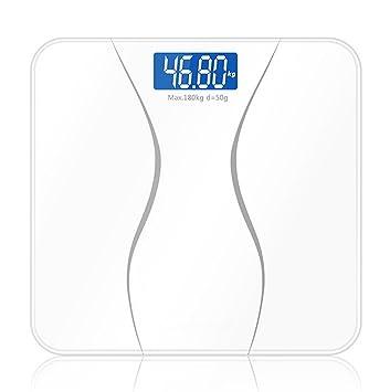 Weighing Scale Básculas De Baño De Grasa Corporal - Ultra Delgado Analizador Con, Peso,White: Amazon.es: Deportes y aire libre
