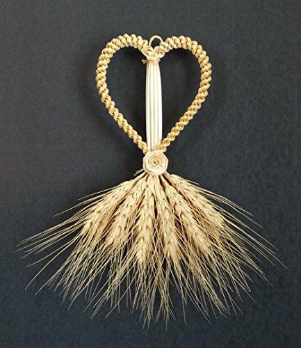 Wheat Weaving Heart, Straw Art