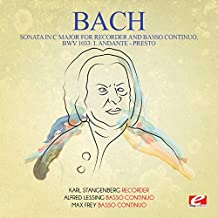 Sonata in C Major for Recorder and Basso Continuo, BWV 1033: I. Andante - Presto